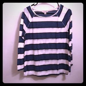 Lucky Brand Long Sleeve Striped Tee Womens Large